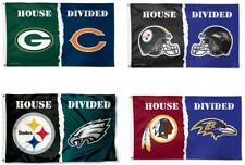 NFL Assorted Teams Wincraft 3' x 5' Deluxe House Divided Flag w/ Grommet NEW!