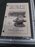 Fairbanks-Morse Bulletin 29B TRC TRCB DC motors