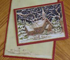 Susan Winget Art - Stone Church Sheep - Religious Lang Christmas Cards 6ct
