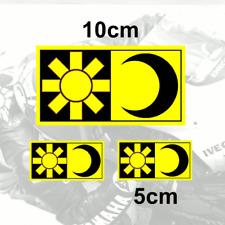 Valentino Rossi Sticker SUN and MOON Vinyl (Y) Pegatina Adesivi Aufkleber