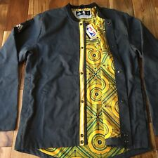 Authentic NBA Golden State Warriors The City Enforcer Grey Jacket Mens Size L