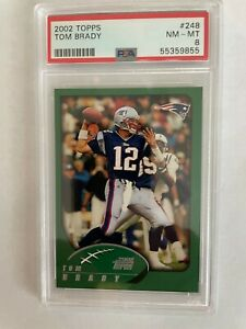 2002 Topps #248 Tom Brady PSA 8 NM-MT First Card with Topps Company