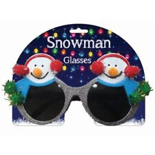 Navidad Muñeco de Nieve Nieve Hombre Novedad brillante Fancy Dress Gafas Brillo DP0648