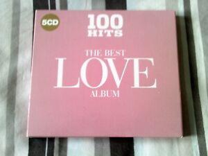 the best love album 5 cd set various artists 100 hits