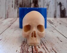 """Skull 3"" silicone mold for soap and candles making mould molds halloween"