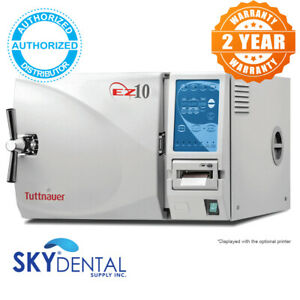 Autoclave Tuttnauer Kwiklave EZ10P Sterilizer W/ Printer New Fully Automatic