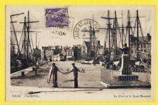 cpa FRANCE Bretagne 22 - PAIMPOL Le PORT et le QUAI MORAND Marins Voile Voiliers