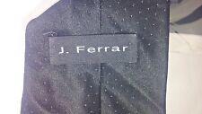 "J. Ferrar Mens SILK Tie Necktie Black with DOTS 57"" x 4"" WIDE Business   #T23"