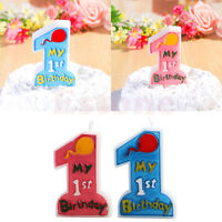 My 1st Birthday Toothpick Cake Candle Kids First One Anniversary Party Decor