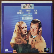 LASERDISC Movie: THE GLASS KEY - Brian Donlevy, Veronica Lake - Collectible