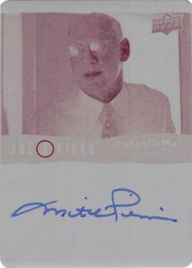 X-Files UFOs & Aliens Mitch Pileggi Auto Autograph Printing Plate Magenta 1/1