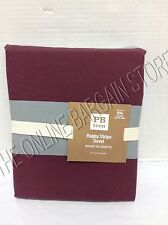 Pottery Barn Teen Rugby Stripe Bed Dorm Duvet Cover Twin Vineyard Vine Gray Red