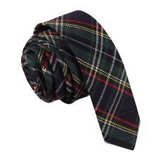 DQT Woven Tartan Plaid Formal Casual Necktie Wedding Skinny Men's Tie