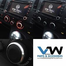 For VW Transporter Fan Heater Control Dials+Adapters Black T5, T5.1 & T6 Mods