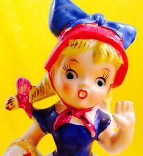 SO CUTE! Miss Muffet Girl Spider Nursery Rhyme Fairytale Vintage Figurine Fun