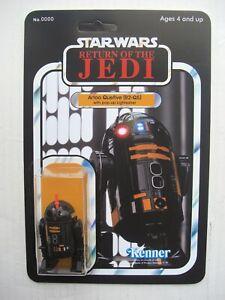 Vintage STAR WARS: R2Q5 R2-Q5 Pop-up Lightsaber CUSTOM Droid on ROTJ style card