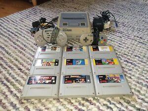 Super Nintendo SNES Console Bundle Inc. 9 Games