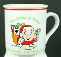 "Vintage Tom Wilson Ziggy ""Christmas Is Here With Warmth & Good Cheer"" Coffee Mug"