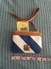 Dooney & Bourje Wallet/wristlet Navy / White Leather Trim NWT