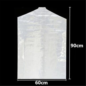 50X 60*90cm Clear Polythene Garment Covers Plastic Dry Clothes  Dust-proof Bags