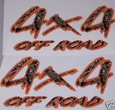Real tree M4 Camo 4X4 OFF ROAD #3 BED SIDE Decals Decal F150 F250 Ram Chevy GMC