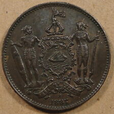 British North Borneo 1887-H Cent Nice Lightly Circulated Coin with hints of Red