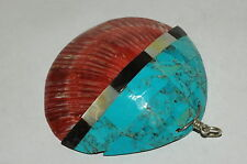Vintage Zuni Inlay Shell Pendant