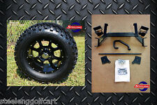 "EZGO TXT ELECTRIC GOLF CART 6"" LIFT KIT + 12"" WHEELS and 23"" ALL TERRAIN TIRES"