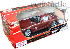 Motormax 79162 Mercedes Benz SLS AMG Gullwing 1:18 Diecast Brown