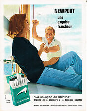 PUBLICITE  1965   NEW PORT  cigarettes fraicheur menthe