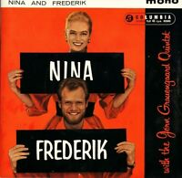 "NINA AND FREDERIK with the jorn grauengaard quintet ep SEG 7997 1959 7"" PS EX/EX"