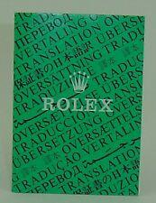 Genuine Rolex booklet vintage translation 1986