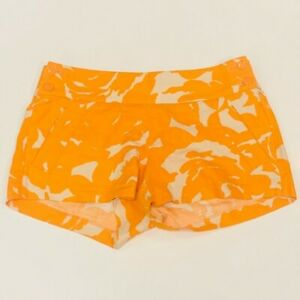 NWOT J. Crew Orange White Floral Preppy Shorts Size 4
