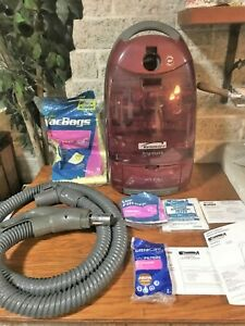 KENMORE PROGRESSIVE 360 HEPA 116 CANISTER RED VACUUM CLEANER W BAGS ACCESSORIES