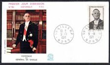 FRANCE FDC - 788B 1698 3 GENERAL DE GAULLE - LILLE 9 11 1971 - LUXE