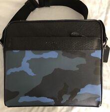 New Men's Coach F29052 Charles Camo Blue  Multi Dusk Camera CrossBody Bag: