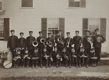 RARE Photo - Collins Center NY Music BAND - ca 1890s - Gowanda NY Erie County