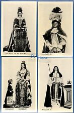 4 POSTCARDS DUCHESS RICHMOND KING WILLIAM CHARLES ETC WESTMISTER ABBEY LONDON