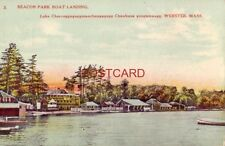 BEACON PARK BOAT LANDING Lake Charcoggag.... WEBSTER, MASS.