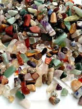 Natural Gemstone Mixed lot 200gm Chip Nugget  Assortment Undrilled Stones Crafts