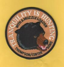 """Thompson/Center Arms Black Bear 4"""" Hunting Patch """"Tranquility is Hunting"""""""