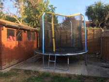 Trampoline 10ft with safety net & new spare mat