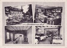"""Chromolux-AK  Quickborn - Hotel und Restaurant """"Quickborner Hof"""", Bes. M. Junker"""