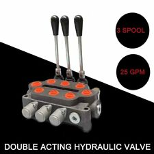 Hydraulic Spool Valve 3 Spool Tractors Loaders 12 Npt Work Ports 3000psi 25gpm