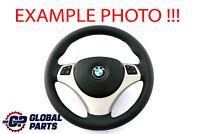 """BMW 1 3 E81 E87 E90 E91 E92 M-Sport Look """"NEW"""" Leather Steering Wheel Tri-colore"""