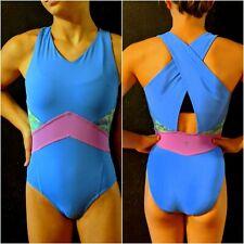 Ivivva by Lululemon Gymnastics Leotard Cross-Back Blue Purple Size 12