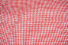 3 yd Mini  Gingham Check Fabric Red Perfect for Doll Clothes Blend  Bfab