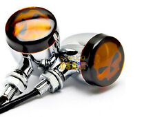 Skull Turn Signals Lights For Harley-Davidson Sportster 1000 1980 1981 1983 1985