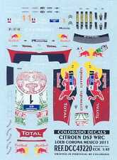 Colorado Decals 1/43 CITROEN DS3 WRC SEBASTIAN LOEB CORONA MEXICO 2011