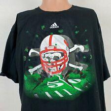 Adidas Nebraska Cornhuskers College Football Skull Crossbones T-Shirt NCAA 2XL